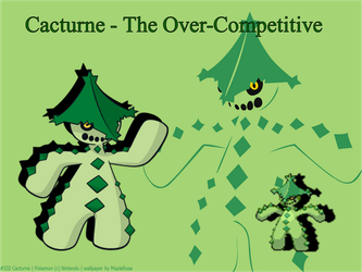TPP Character Picture - Cacturne by InfernapeMaster64