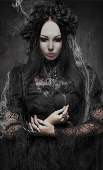 Gothic woman in dark 4 by bouzid27