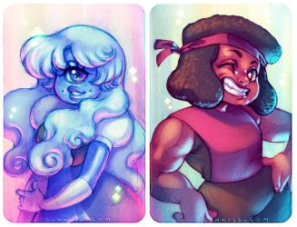 Sapphire and Ruby by CamiFortuna