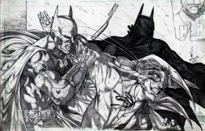 Batman vs. Joker by jey2dworld