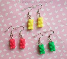 Gummy Bear Earrings by CantankerousCupcake