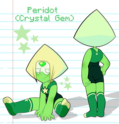 Peridot (Crystal Gem Form) by DominickLuhr
