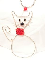 Red collar Cat by kufka