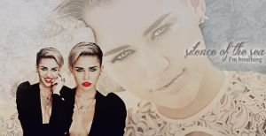 Miley Cyrus - Silence of the sea, I'm breathing by xmhessa