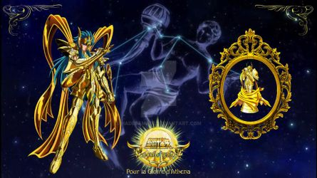 Saint seiya soul of gold aquarius and libra weapon by hadesama01