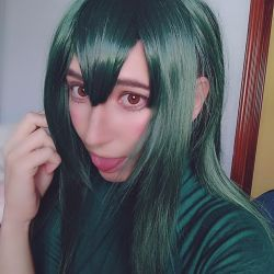 Tsuyu Asui Makeup test by LuffySwan