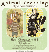 Animal Crossing Style Commissions by Stitchy-Face