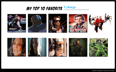 Top 10 Favorite Cyborgs by theaven