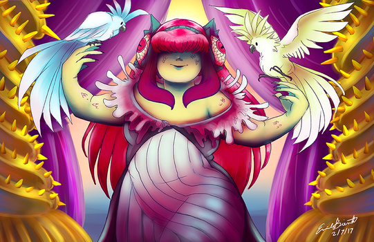 Scylla and her birds by bittermause