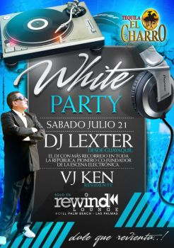 white party flyer design by donmoj on deviantart