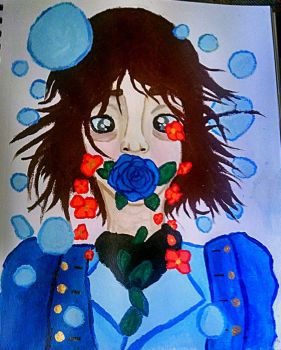 The Blue Rose by CreativeOwlet