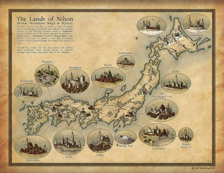 Commission 2016: The Lands of Nihon by Traditionalmaps