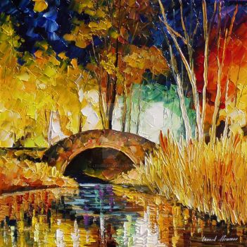 Treasure Bridge by Leonid Afremov by Leonidafremov