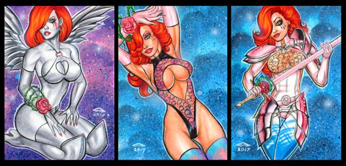 DAWN PERSONAL SKETCH CARDS APRIL 2017 by AHochrein2010