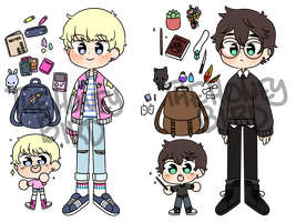 REDUCED Magic Boy Adopts | OPEN 2/3 by TheHoneybird