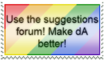 Suggestions Forum Stamp by wintercool612