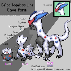 Niji Delta : Togekiss Line by Eos13unknown