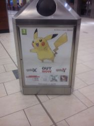 Pikachu Bin Ad from Doncaster Frenchgate by Copeydude101