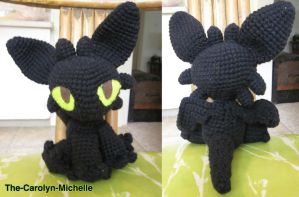 Toothless the Baby Night Fury by the-carolyn-michelle