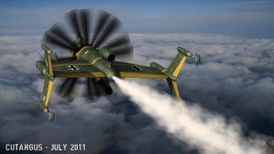 Steam-propelled fighter I by CUTANGUS