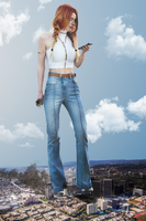 Giantess Bella Thorne's Big Role Finale by dochamps