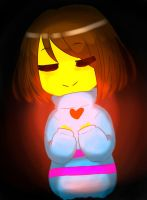 Frisk (you are filled with DETERMINATION) by Rayreid
