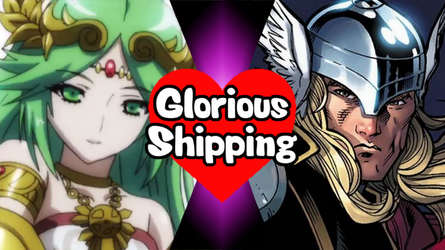 Glorious Shipping Palutena and Thor by scott910