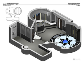 U.S.S. Voyager - Transporter Room by falke2009
