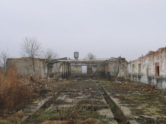 Ruins of the old Soviet farm 2 by saulinis-stock