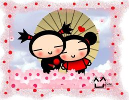 Pucca and Garu by ateljEE