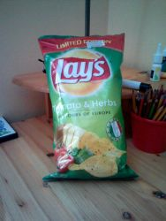 Lay's Flavors of Europe Tomato and Herbs Flavor by Vex2001