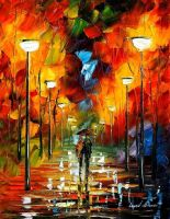 The soul of the park by Leonid Afremov by Leonidafremov