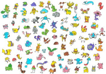 91 Pokemon - 1 Paper by AnnaJ