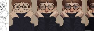 Glasses painting process by afurin