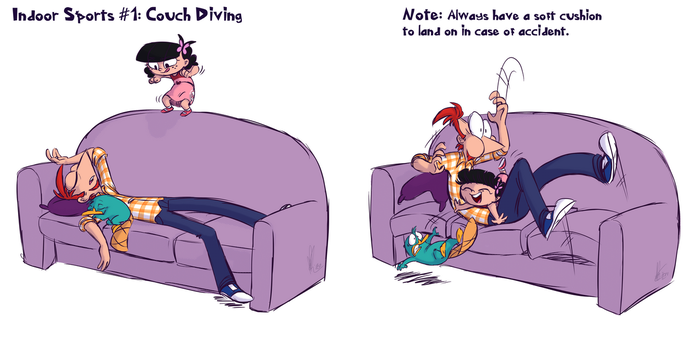Couch Diving by KicsterAsh
