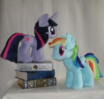 Twilight Sparkle and Rainbow Dash - Plush by Yukizeal