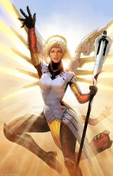 Mercy Overwatch Art  by SaviorsSon