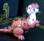 Steampunk River Otter Sculpture by MysticReflections