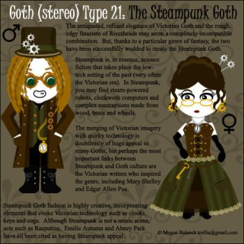 Goth Type 21: Steampunk Goth by Trellia