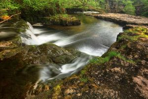Winding River Cascades - Brecon Beacons by somadjinn