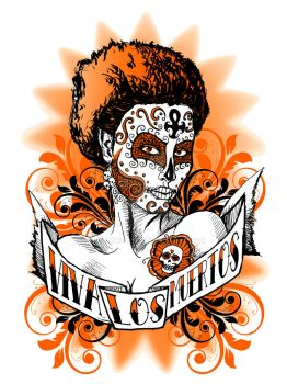 day of the dead girl t design by rawjawbone