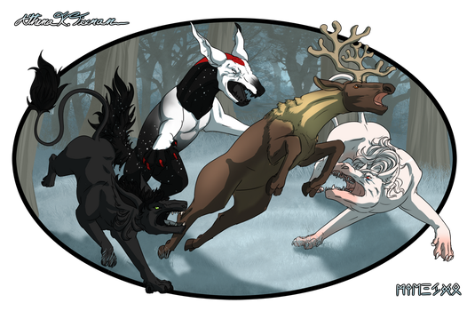 Aoife, Supernova and Hades hunting 2 by Athena-Tivnan