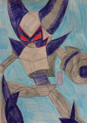 Superactived Robotboy Drawing by MaleVolentSamSon
