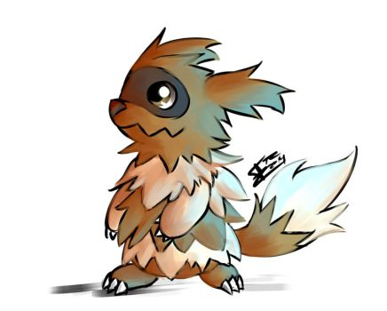 Zigzagoon Colored Doodle by Trozte