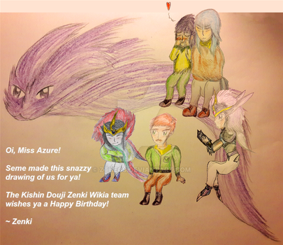 KDZ Wikia Team group drawing for Miss Azure by ZTheGS