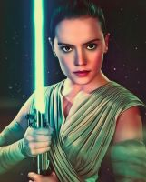 Star Wars Rey by Daisy Ridley by petnick