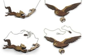 Predator / Prey Necklaces by mtomsky