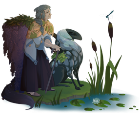 The Visitor and the Pond by painted-bees
