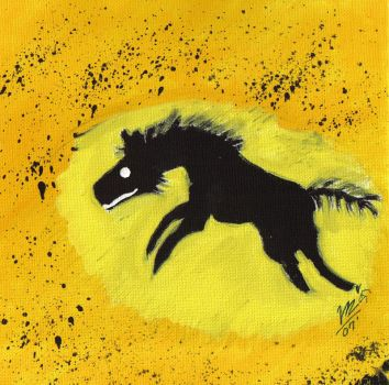 Hyena Cave Painting by Youalahuan