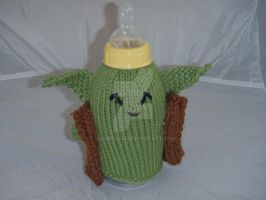 Yoda Baby Bottle Cozy by jedimeg16